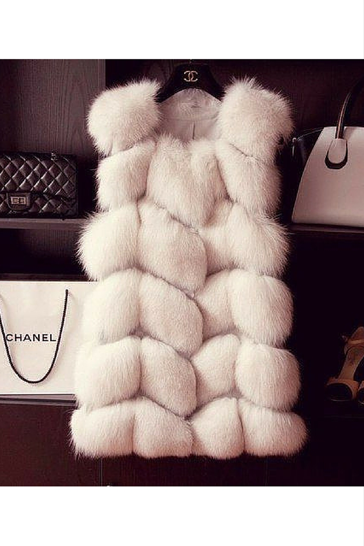 sneakers and pearls, wear a fur vest over anything for a feminine and eatherial look, trending now.jpg