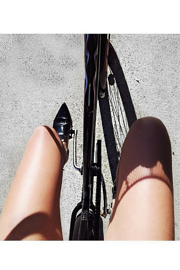 sneakers and pearls, street style, cycling in style, commute in style, trending now.jpg