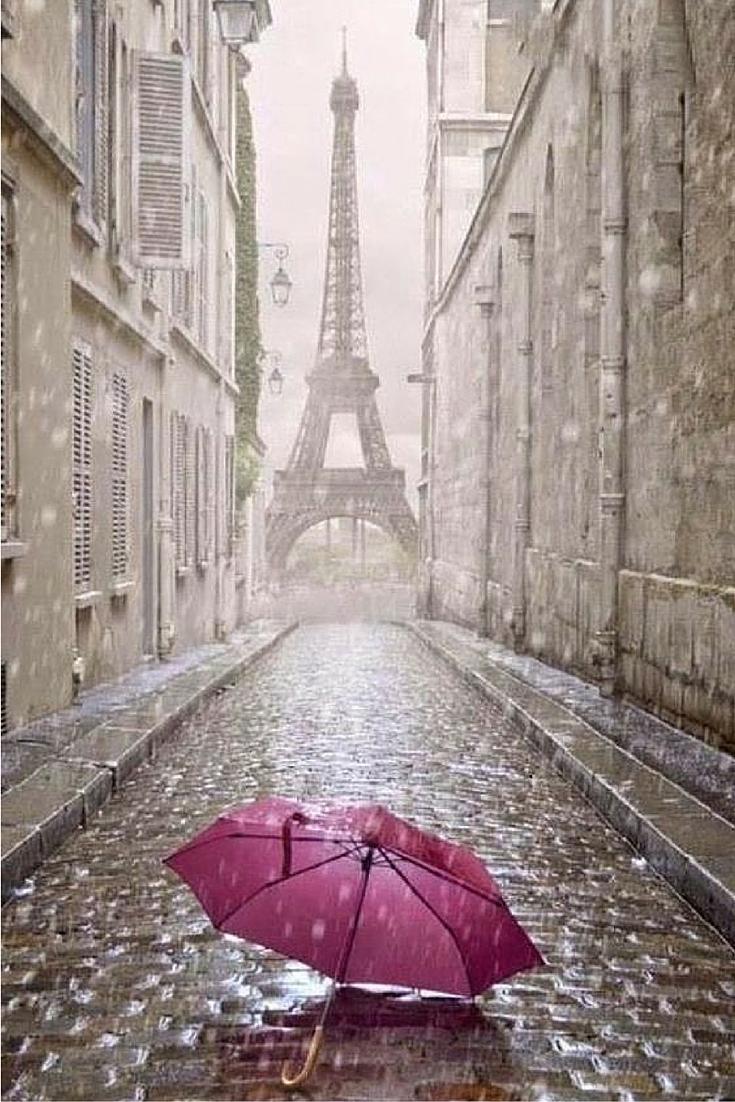 sneakers and pearls, Paris in the rain, pink umbrella, always trending.jpg