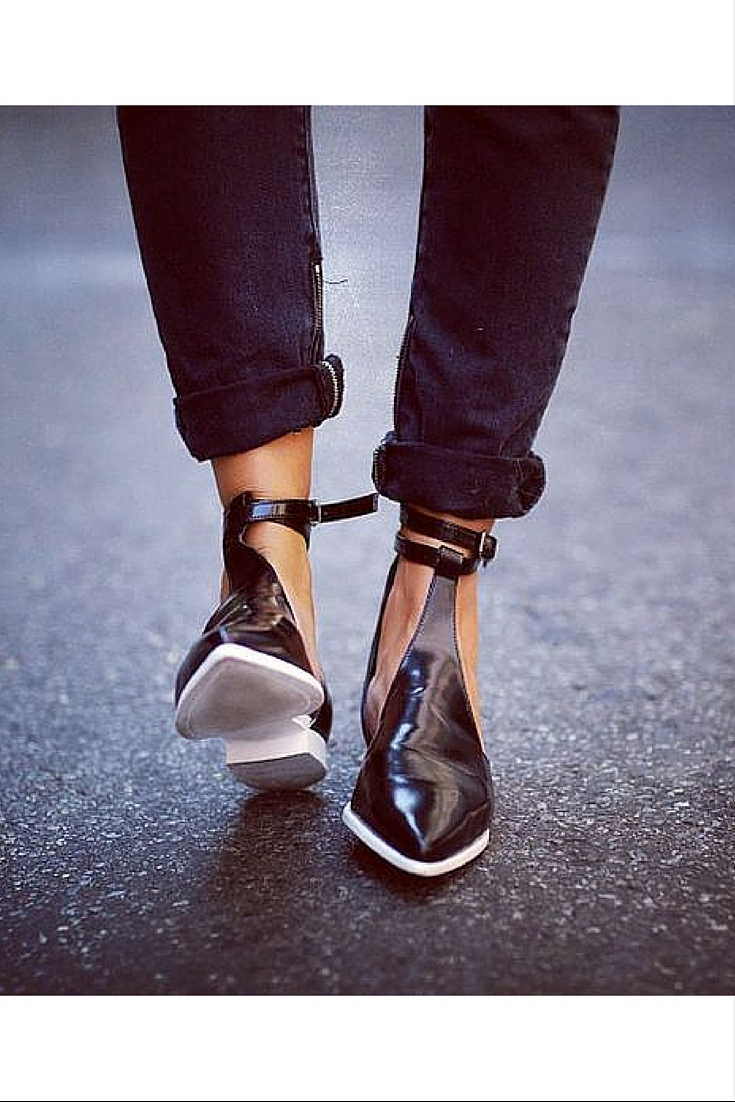 sneakers and pearls, street style, black cut out shoes with white sole, trending now.jpg