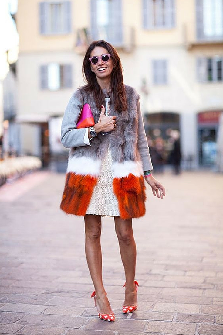 sneakers and pearls, street style, fur coat, lace dress, trending now.jpg