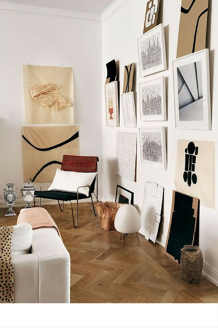 sneakers and pearls, mimalistic spaces with a homely touch, if no room leave your paintings on the floor, trending now.jpg