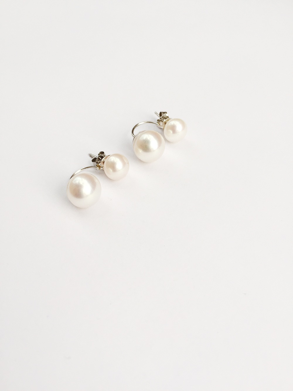 sneakers and pearls, jewellery, jewelry, double fresh water pearl earrings ,trending now.JPG
