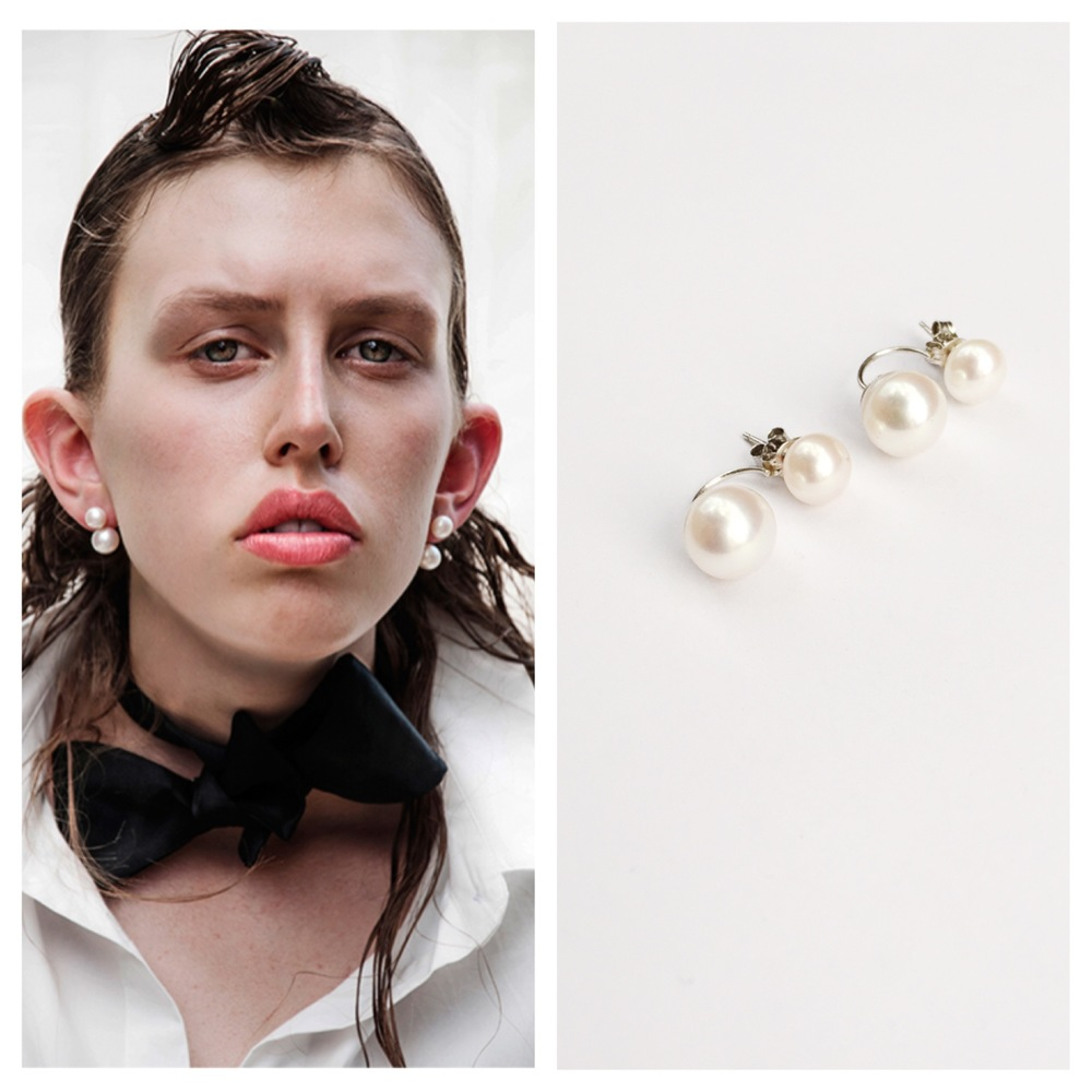 sneakers and pearls, next runway top model, double pearl earrings, jewellery, jewelry,Beyonce's earrings,trending now.JPG