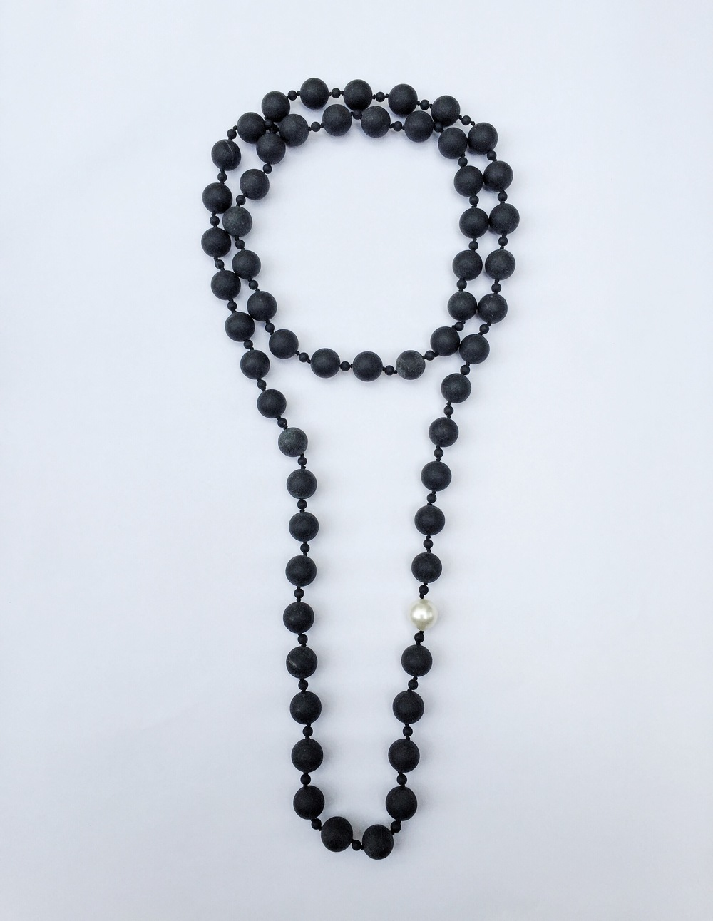 sneakers and pearls, jewelry, black onyx necklace with a fresh water pearl,trending now.JPG