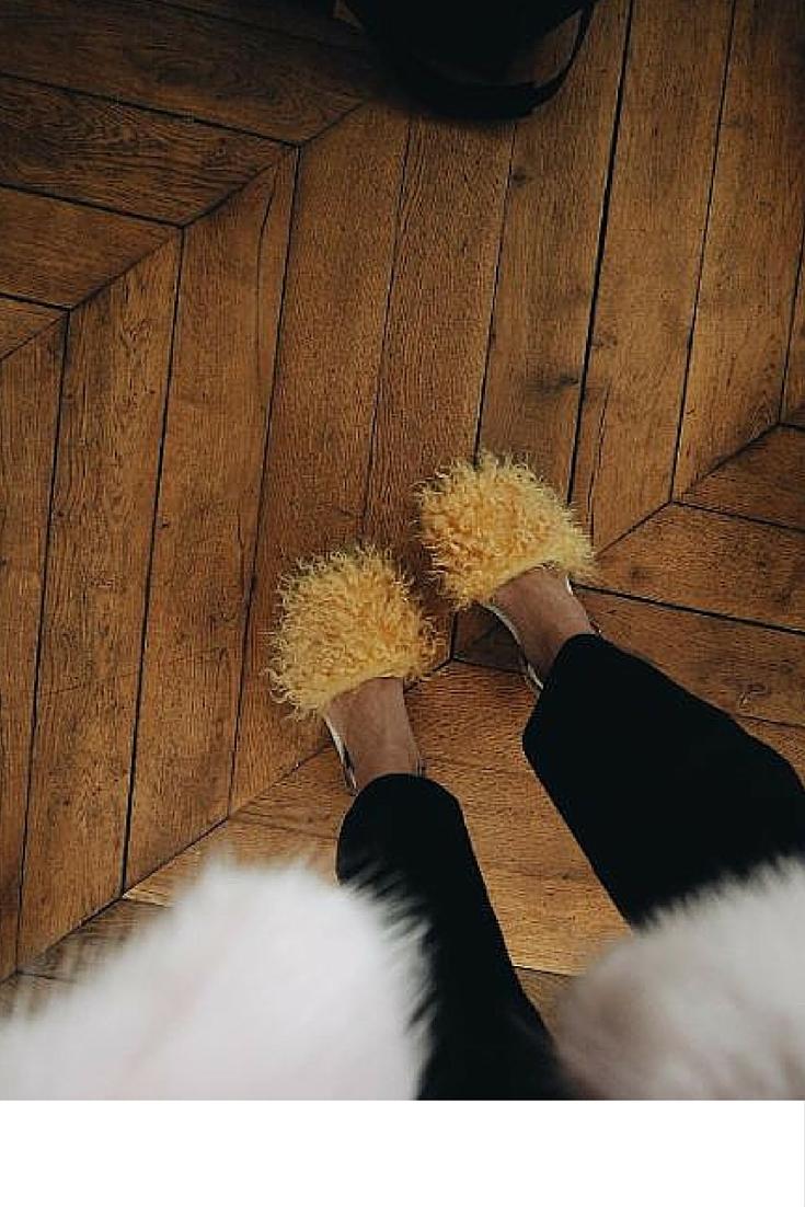 sneakers and pearls, fur shoes, trending now.jpg