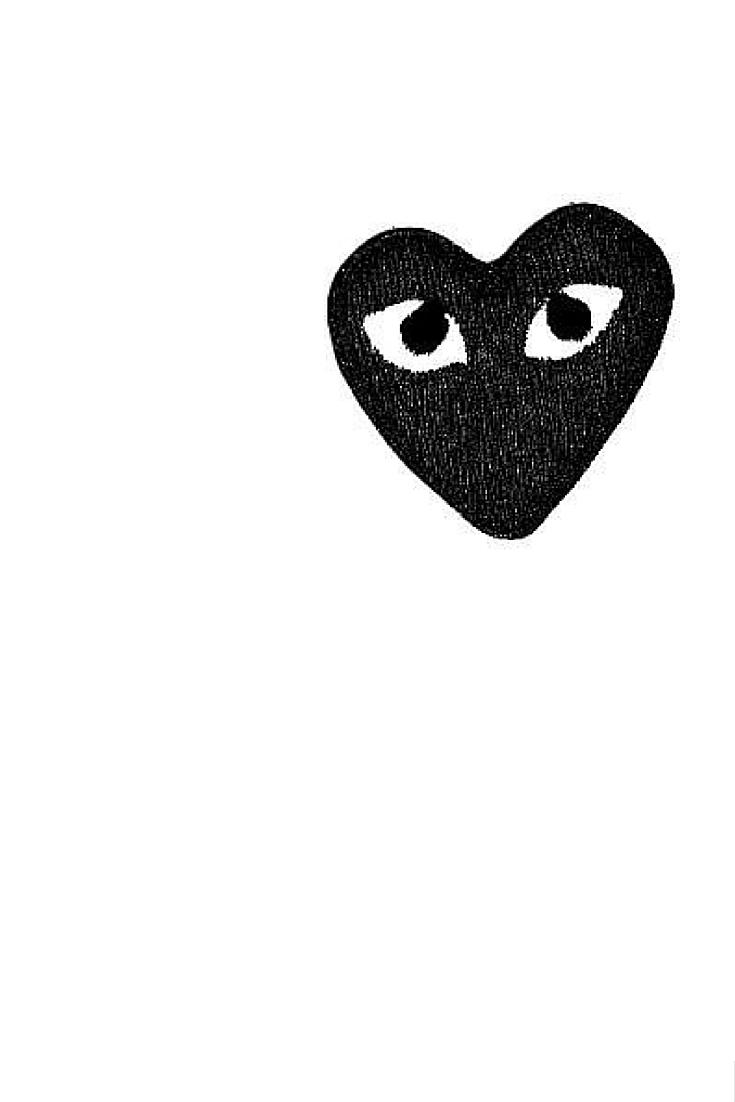 sneakers and pearls, comme de garcons, black love heart, always trending.jpg