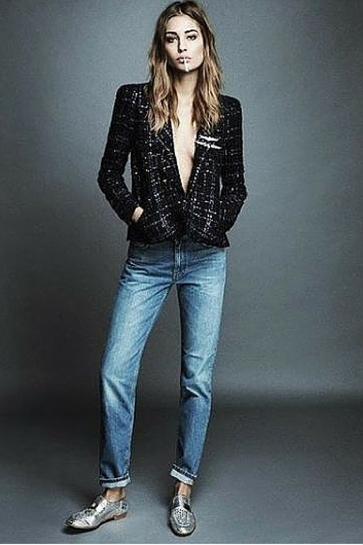 sneakers and pearls, denim pants with a tweed blazer and silver brogues, always trending.jpg