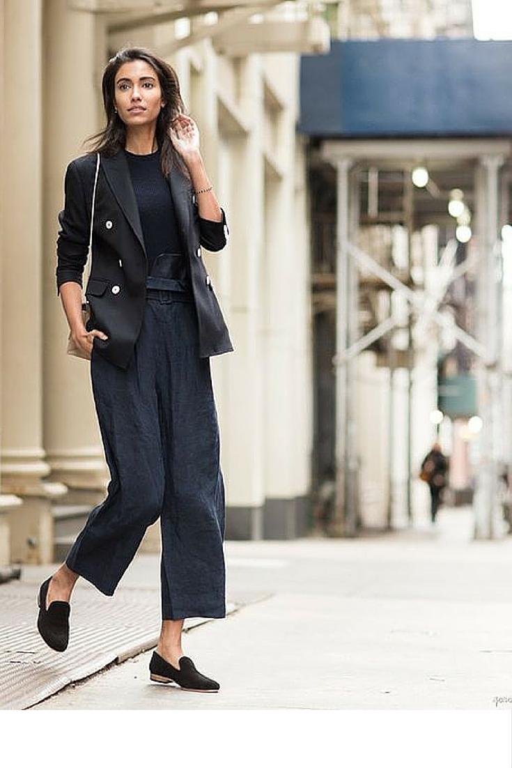 sneakers and pearls, street style, total black ensemble, office wear, always trending.jpg
