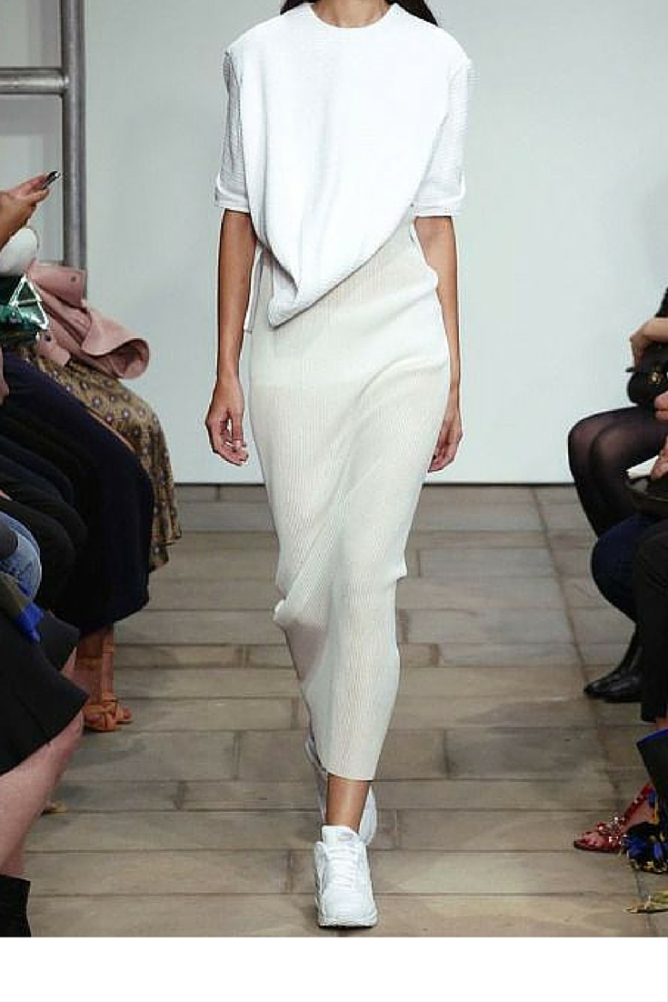 sneakers and pearls, runway look, how to mix white and cream colours together, trending now.jpg