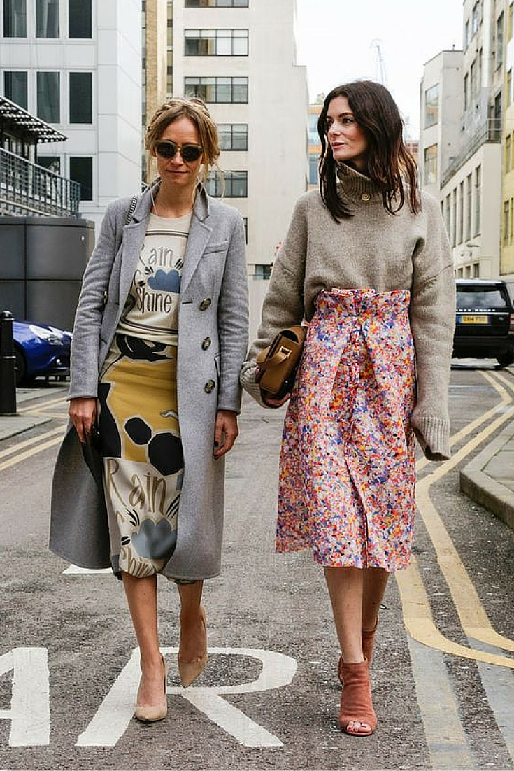 sneakers and pearls, street style, girls gang, mix and match your skirt with a knit or a tee, trending now.jpg