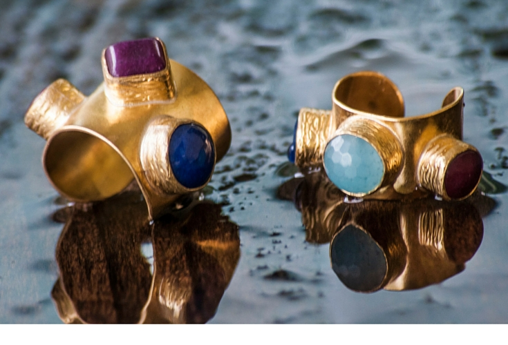 sneakers an dpearls, one off rings, gold rings with semi precious rings, trending now.jpg