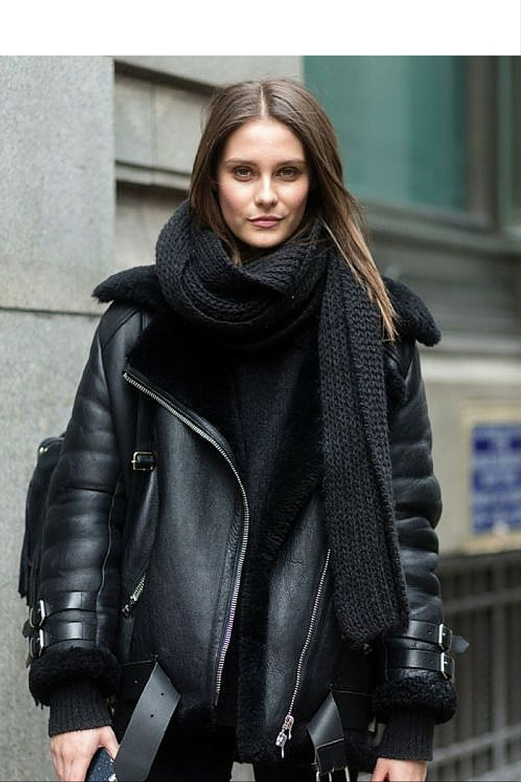 sneakers and pearls, street style, simple style with a total black ensemble, trending now.jpg