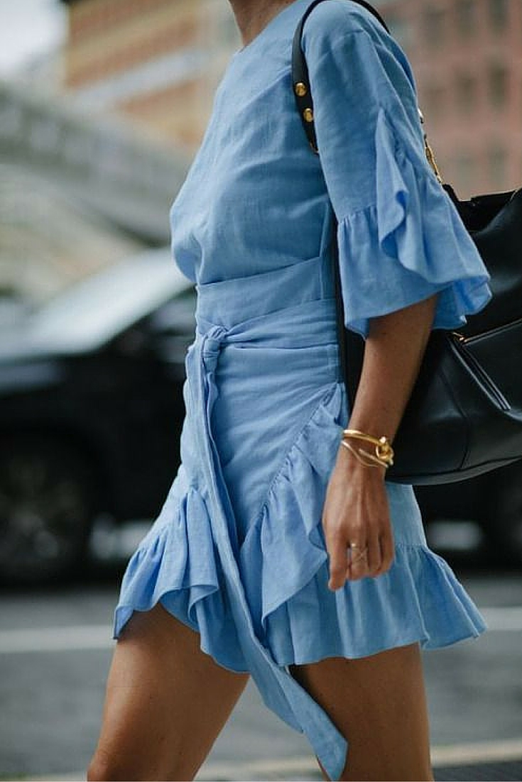 sneakers and pearls, street style, linen dress, trending now.jpg