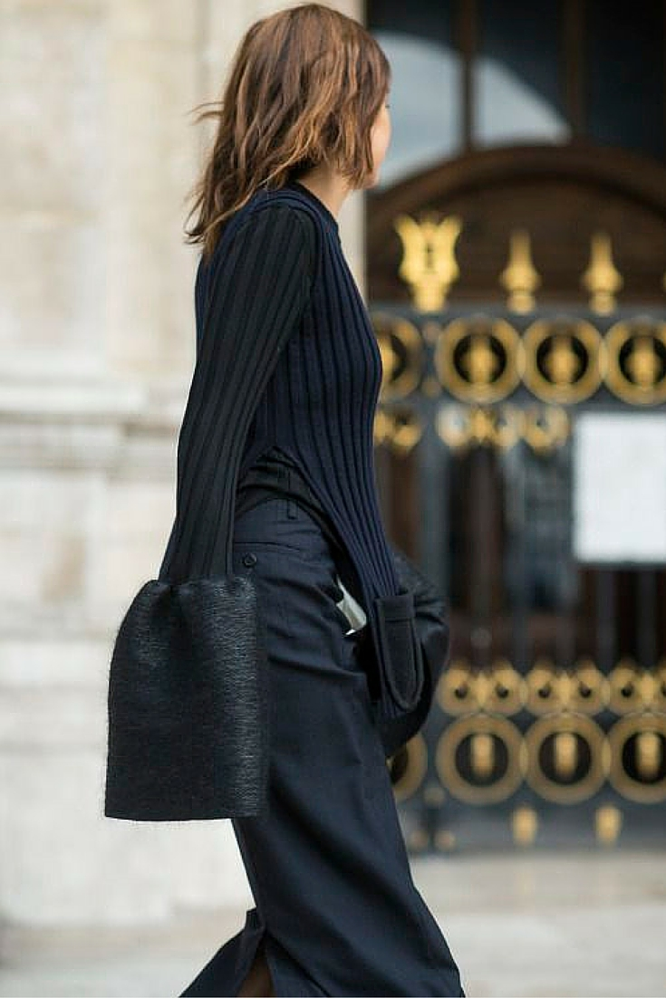 sneakers an pearls, street style, total black ensemble, bell sleeve knitwear, trending now.j.jpg