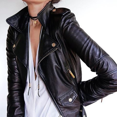 The weather is for leather! Found @pinterest #outfitoftheday #style #life #black #leatherswag #leatherjacket #inspiration #fashionaddict #outfit #white
