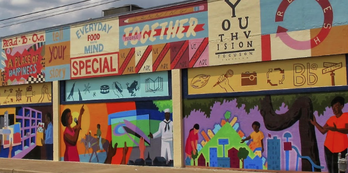 East Waco Library Mural     |  David Lowenstein