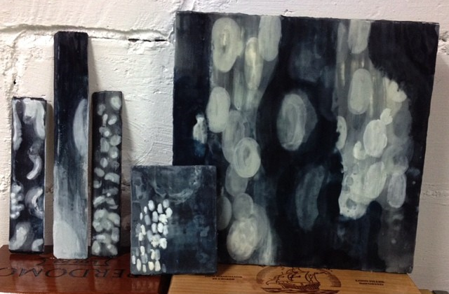 Encaustic sample and swatches created for designer approval