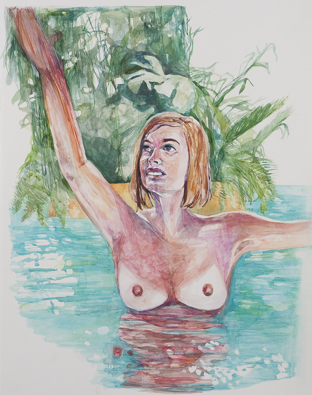 Heaven , 2011, watercolor on paper, 30 x 22 inches, Collection of Robin Bernat