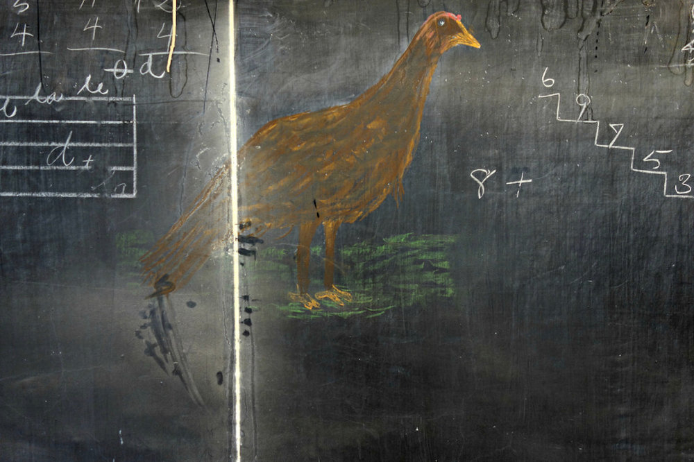 Thanksgiving Turkey + Math Lesson , 1917, uncovered in an Oklahoma City Elementary School classroom. Read more about this fascinating 100 year old art discovery  here .
