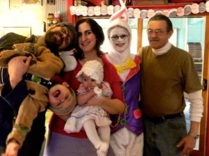 Three generations at the Craftsman; drop by around Easter and you might see Ramona chasing her Grandkids around, dressed as a bunny!