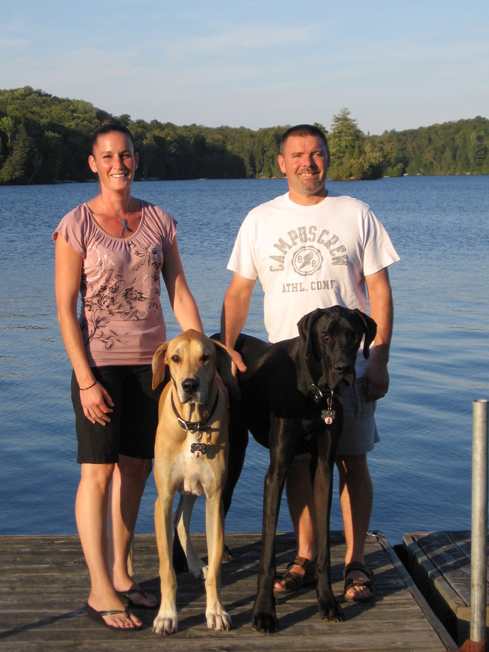 Tyleen & Rod with hunter and toby.
