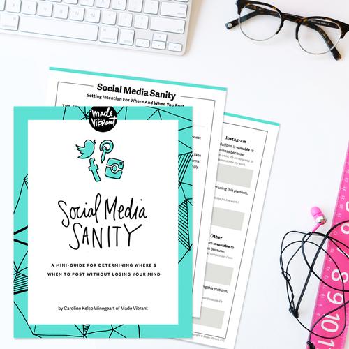 Social Media Sanity Mini-Guide