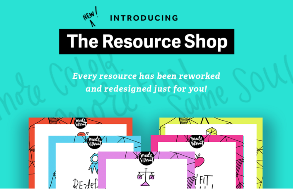 "Umm.... I guess four months after the launch, the Resource Shop is no longer the ""NEW"" resource shop anymore, right? :) This image is going to get updated STAT!"