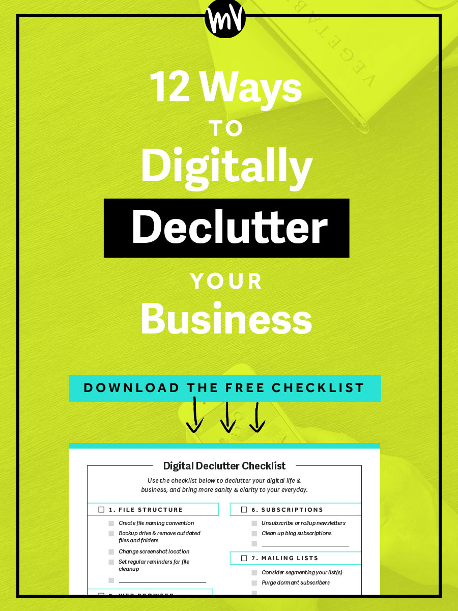 12 Ways To Digitally Declutter — Made Vibrant