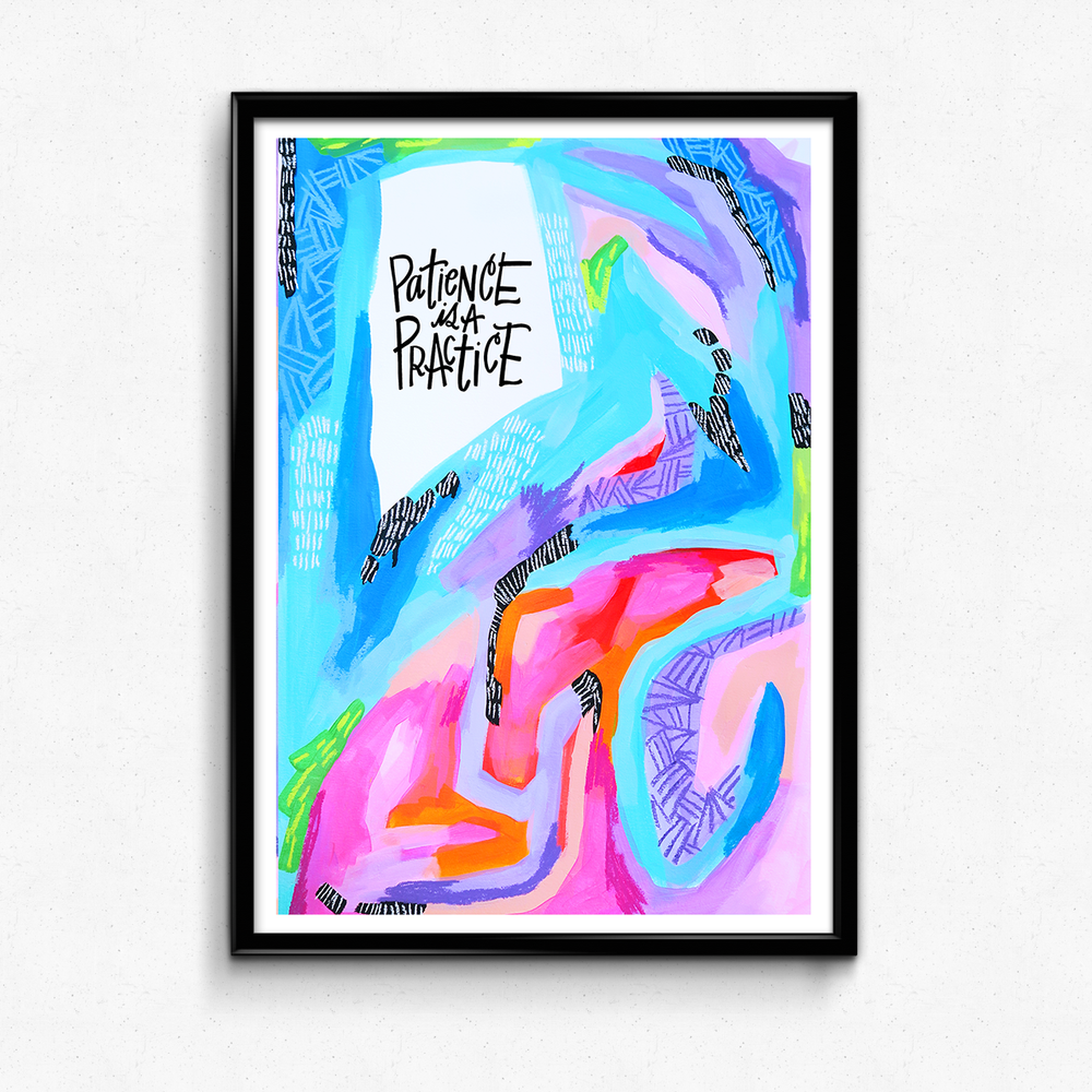 A reminder to slow down, stay present and find joy in where you are! $25 giclee print available at the Made Vibrant Art Shop.