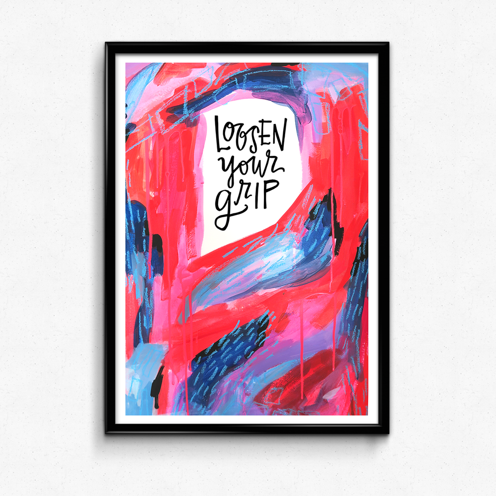 A reminder to relax and let things flow when you're feeling stressed out! $25 giclee print available at the Made Vibrant Art Shop.