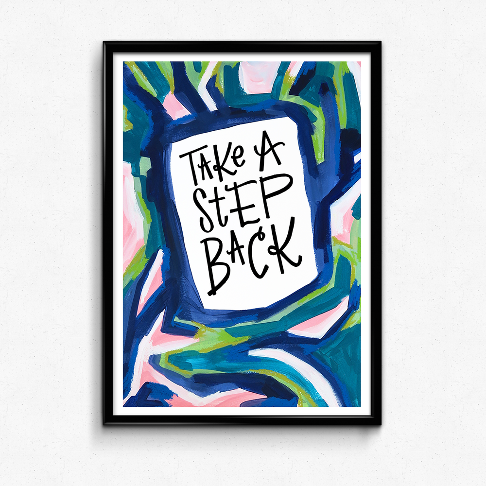 A friendly reminder to give yourself a breather! $25 giclee print available at the Made Vibrant Art Shop.