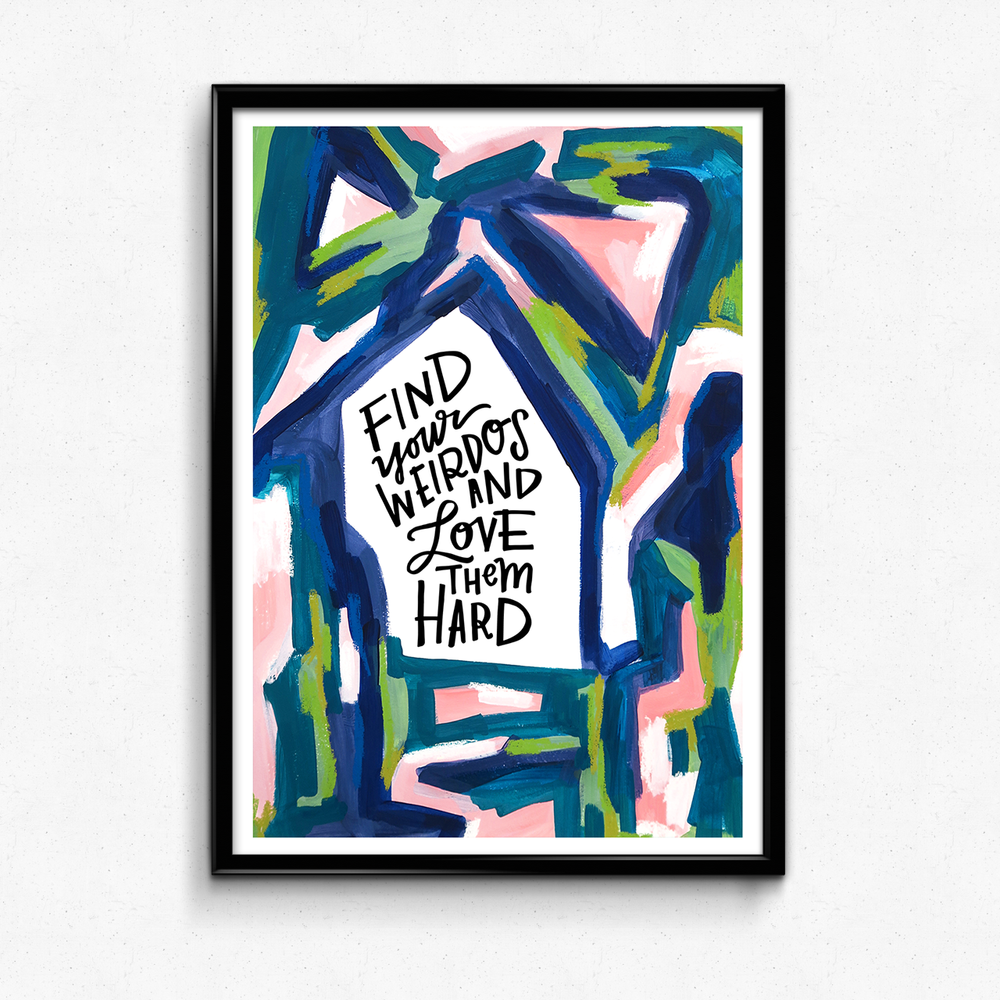 A reminder to be on the lookout for your fellow weirdos! $25 giclee print available at the Made Vibrant Art Shop