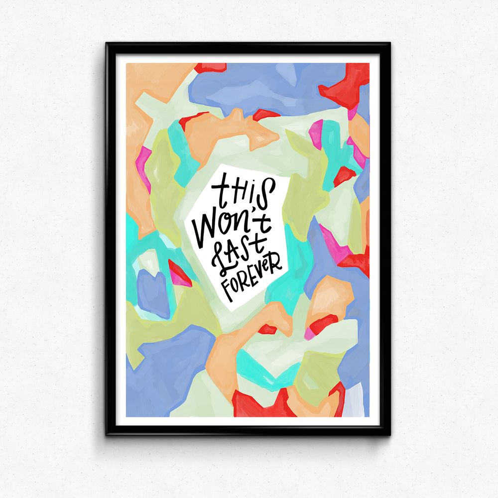 A reminder that brighter and better days are just ahead! $25 giclee print available at the Made Vibrant Art Shop.