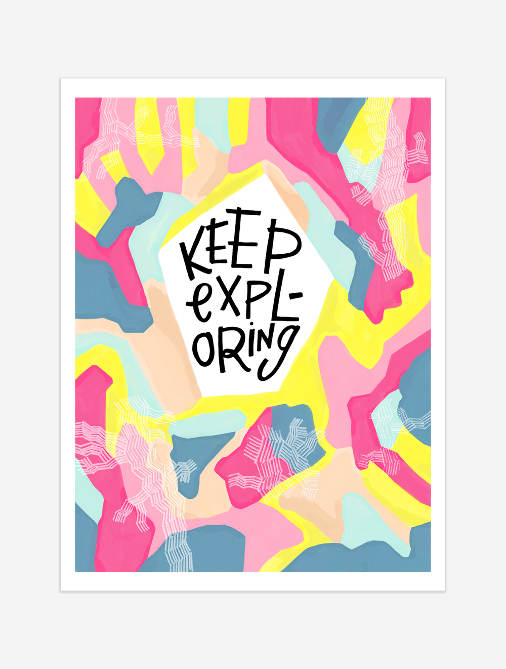 A reminder keep going BEYOND whatever we think our frontiers are so, we might just discover entire worlds we never knew. $25 giclee print available at the Made Vibrant Art Shop.