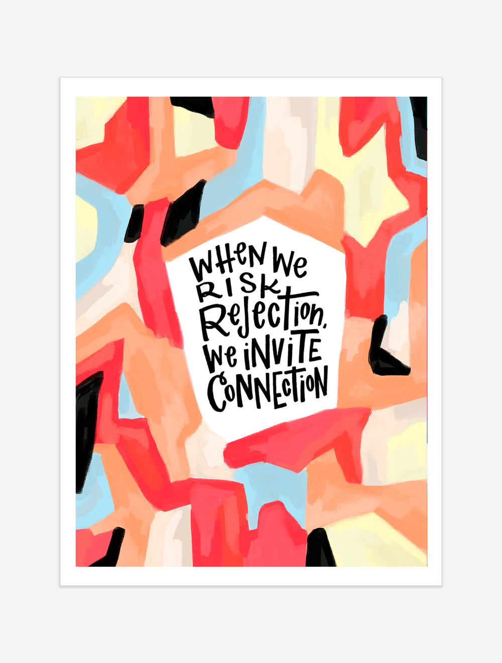 A reminder that we are imperfect and we are whole! $25 giclee print available at the Made Vibrant Art Shop.