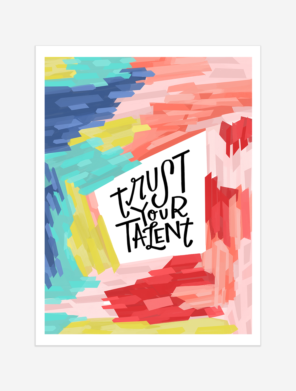 A reminder to listen to your inner voice and trust your talents! $25 giclee print available at the Made Vibrant Art Shop.