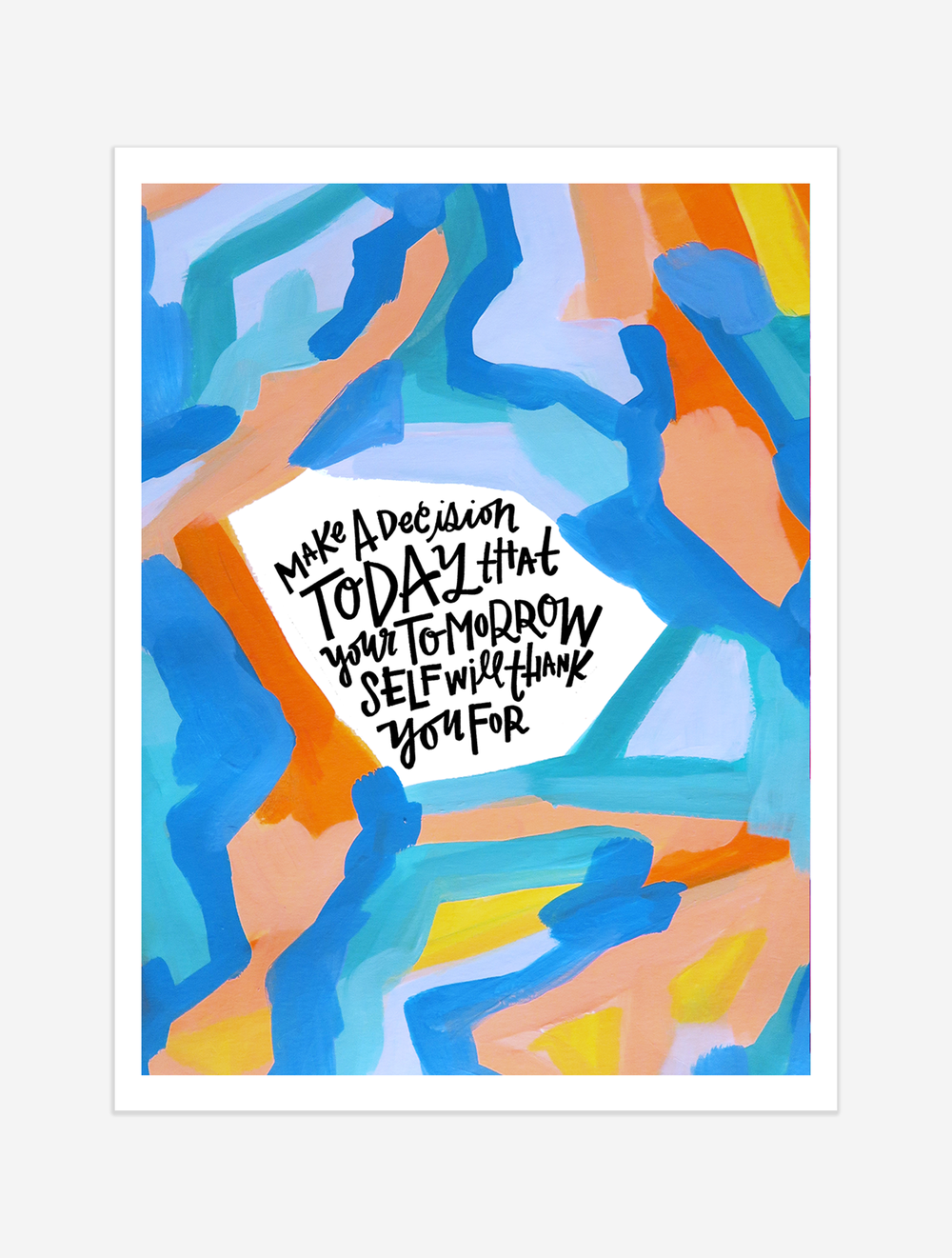 A friendly reminder that sometimes all it takes is one INTENTIONAL tap in the right direction. $25 giclee print available at the Made Vibrant Art Shop.