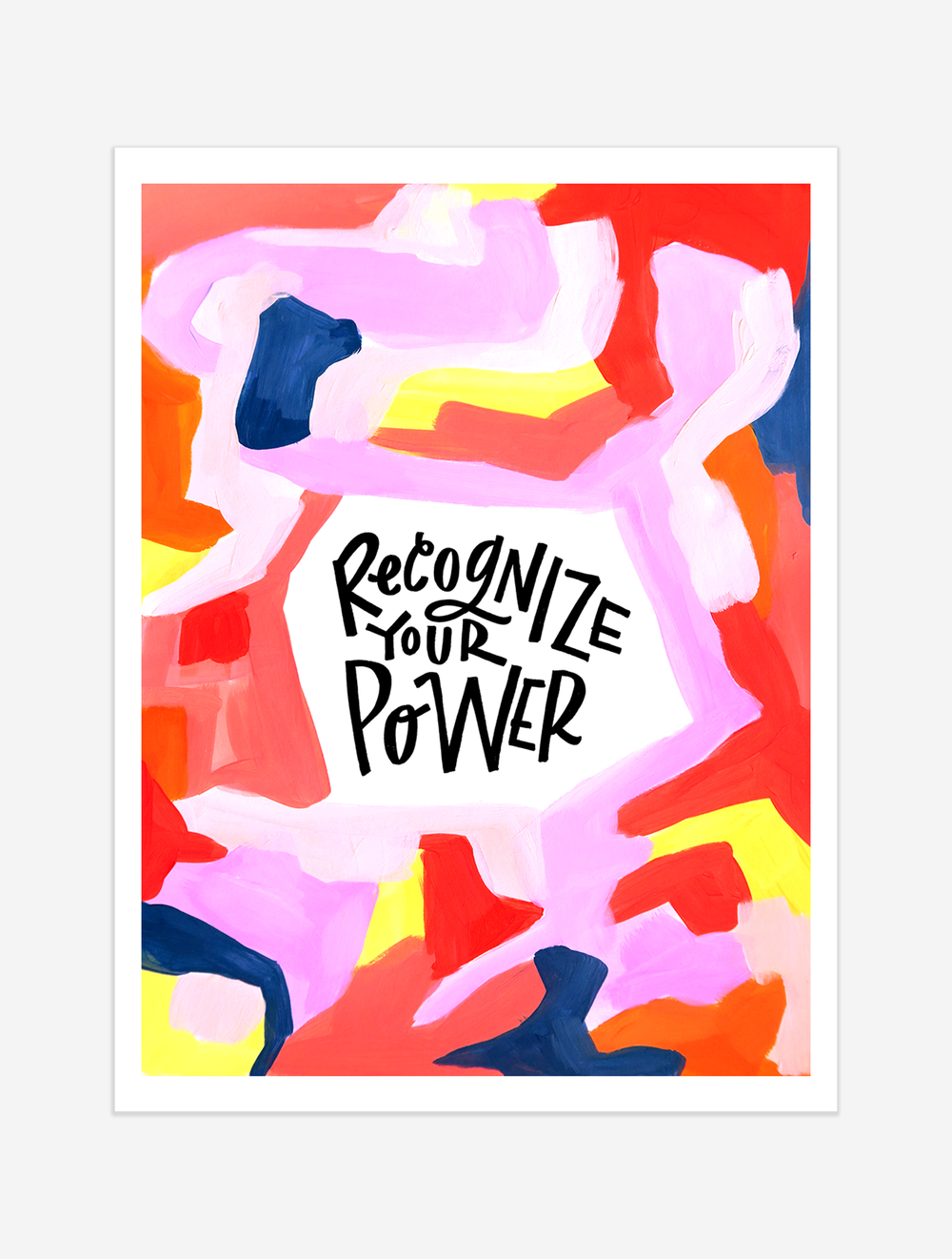 A reminder to recognize the opportunities in our daily lives to exert our power in a positive way. $25 giclee print available at the Made Vibrant Art Shop.