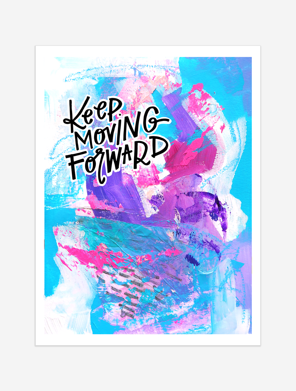 A reminder to keep your focus on the next step to make the goal ahead less daunting. $25 giclee print available at the Made Vibrant Art Shop.