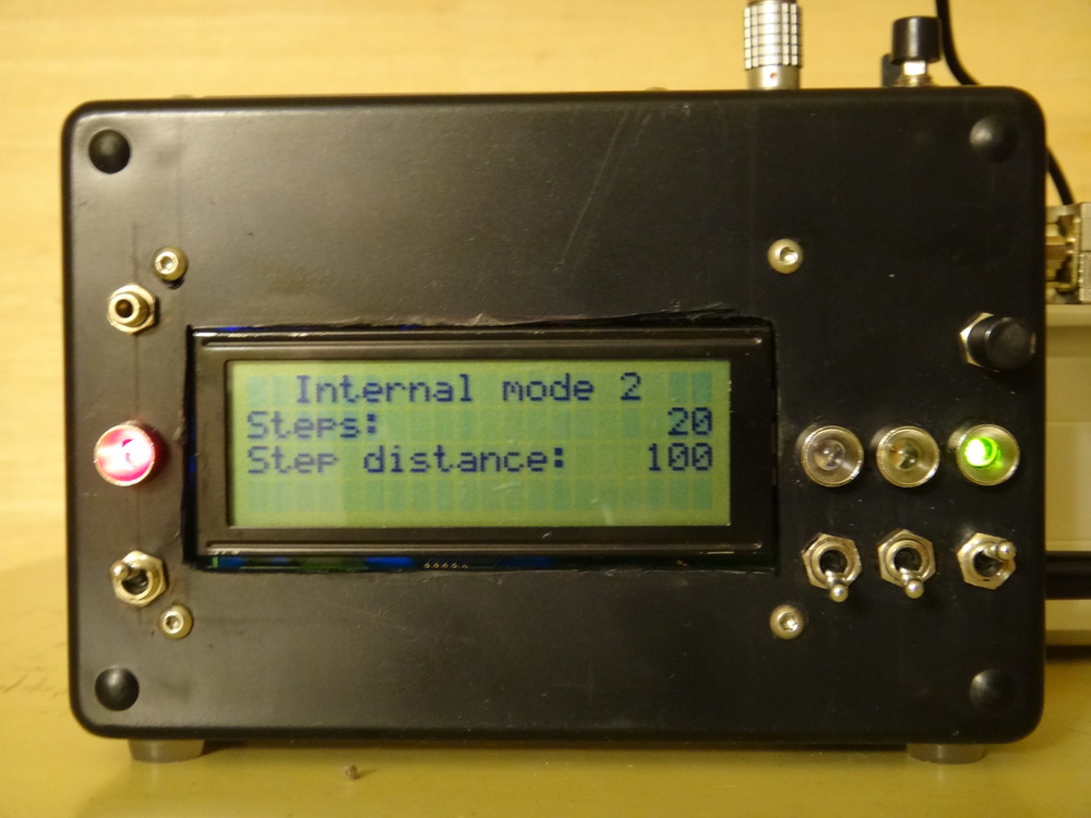 The front display panel with an internal preset mode active.