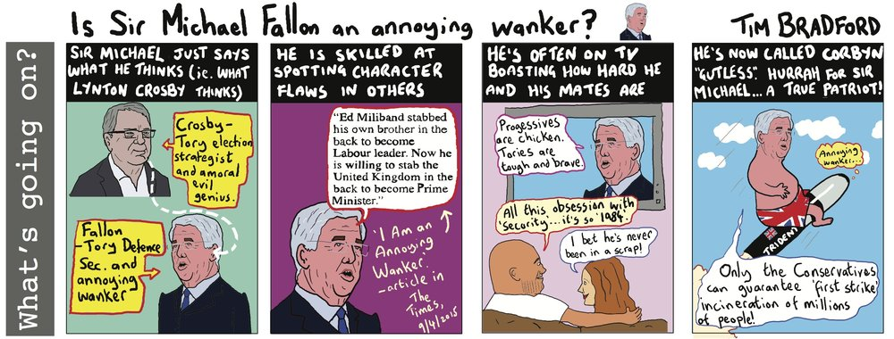 Is Sir Michael Fallon an annoying wanker? - 05/05/17