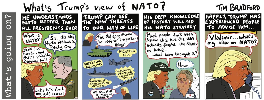 What's Trump's view of NATO? - 24/03/17