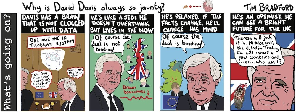 Why is David Davis always so jaunty? 12/12/17