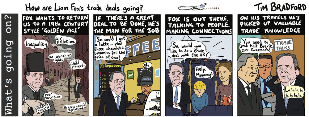 How are Liam Fox's trade dals going?  06/03/18