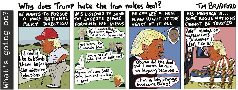 Why does Trump hate the Iran nukes deal? - 08/05/2018