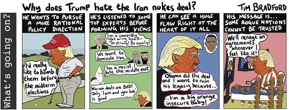 Why does Trump hate the Iran nukes deal? - 08/05/18