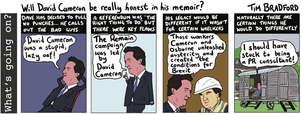 Will David Cameron be really honest in his memoir? - 07/08/18