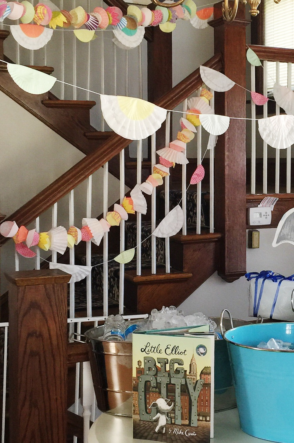 DIY cupcake liner garlands