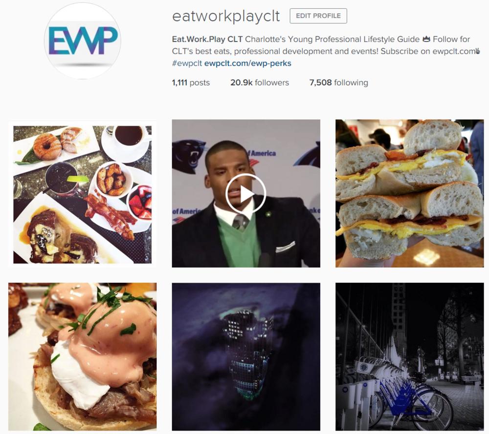 Eat Work Play Charlotte Instagram